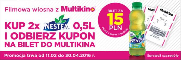 Bilet do kina za 15zł przy zakupie 2x Nestea 0,5l @ Multikino