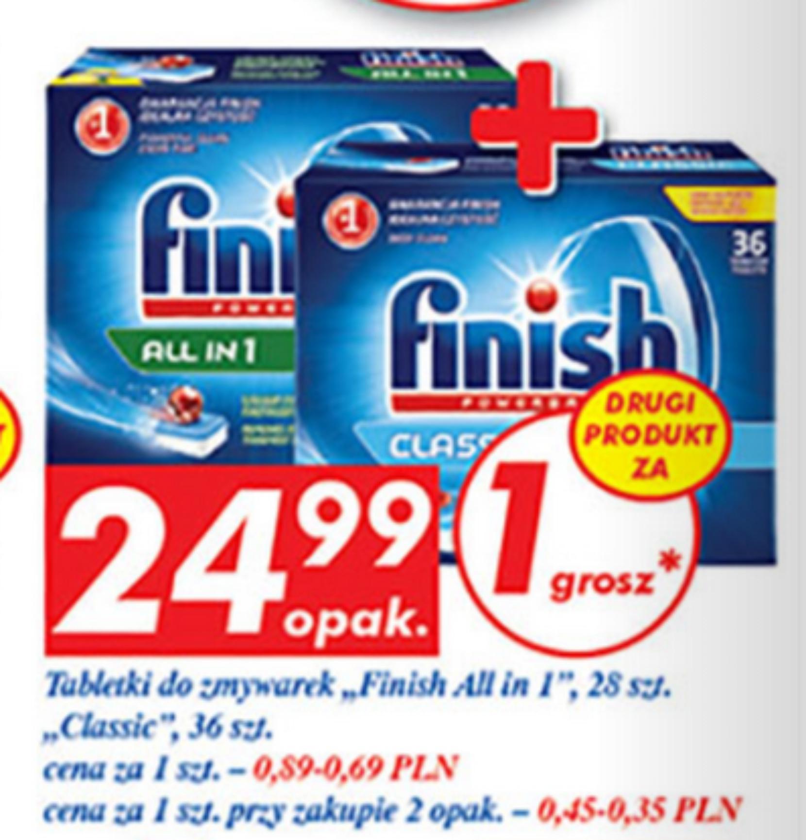 Tabletki do zmywarki finish - 2 opakowania - 0,45zł/ lub 0,35zł/ zmywanie