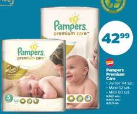 Pieluszki Pampers Premium Care za 42,99zł @ Netto