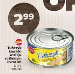 Tuńczyk w kawałkach (170g) za 2,99zł @ Netto