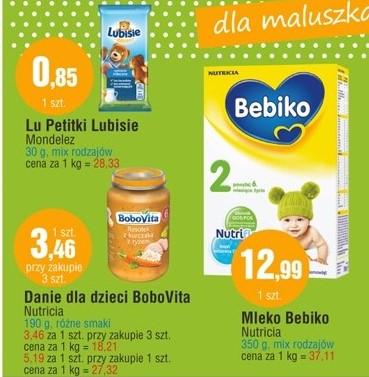 Mleko Bebiko 350g za 12,99zł, słoiczki BoboVita 190g za 3,46zł @ Tesco