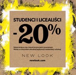 20% rabatu dla studentów i licealistów @ New Look