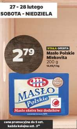 Masło Polskie Mlekovita 82% w Netto 27-28.02.2016