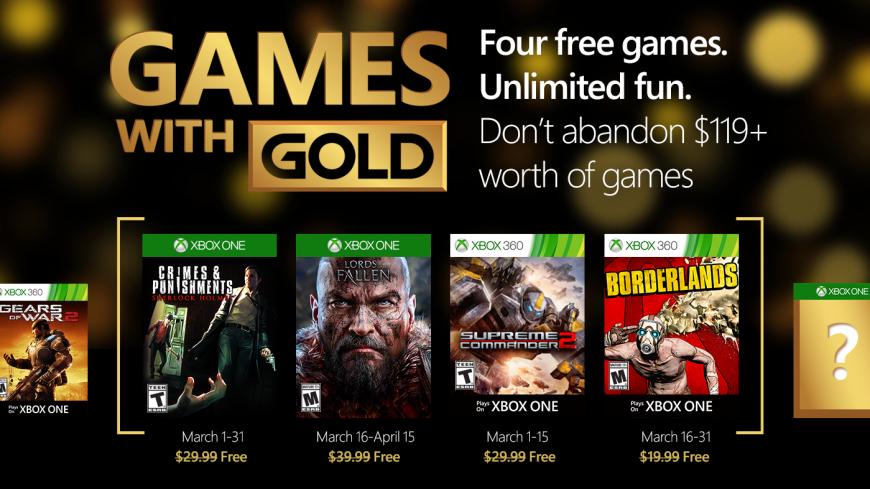 Darmowe gry dla posiadaczy Xbox Live Gold na marzec