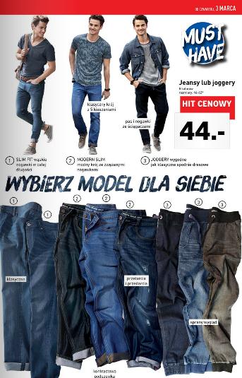 Męskie jeansy za 44zł @ Lidl