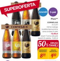 6 butelek piwa Cornelius (różne smaki) za 13,49zł @ Carrefour