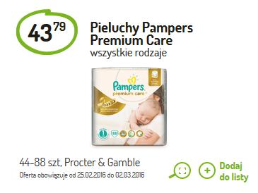 Pieluszki Pampers Premium Care za 43,79@ Delikatesy Centrum