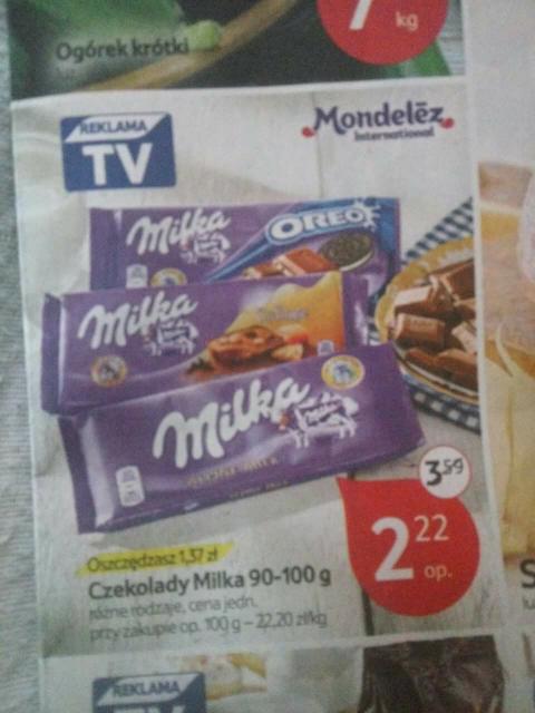 Tesco czekolada Milka 100g