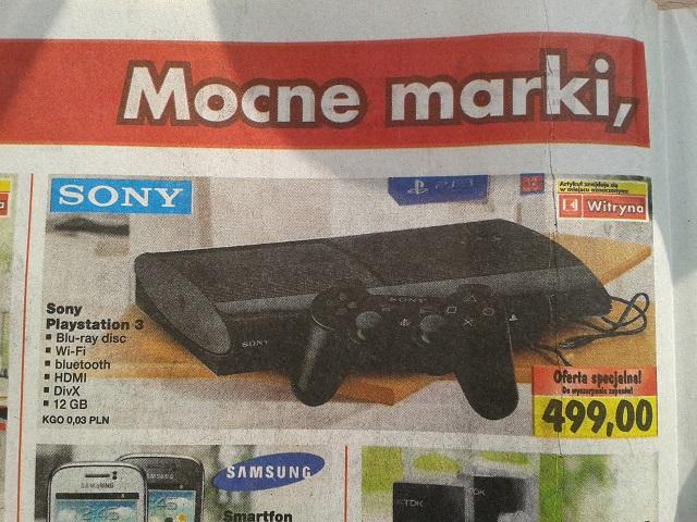 Playstation 3 Super Slim (12gb) za 499zł! @ KAUFLAND