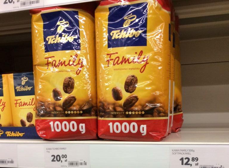 TCHIBO FAMILY ziarno 1kg 20zł @ TESCO