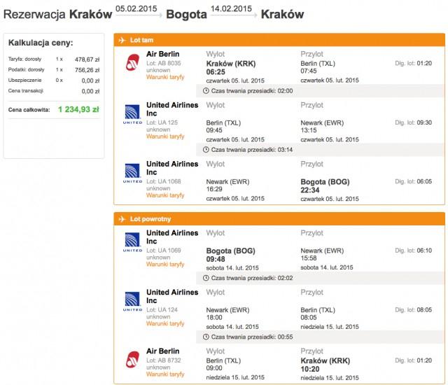 Tanie loty z Polski (Kraków, Gdańsk) lub Berlina do Kolumbii (Bogota) od 1235zł @ WakacyjniPiraci