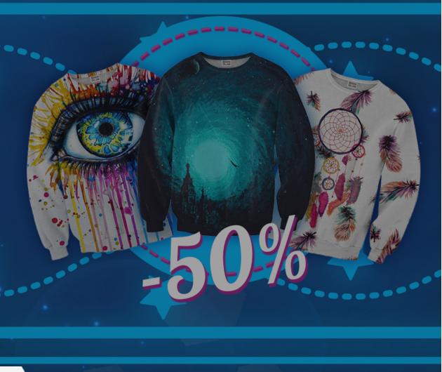 50% rabatu na wszystko - bluzy, koszulki, spodnie, akcesoria z nadrukami @ Mr Gugu