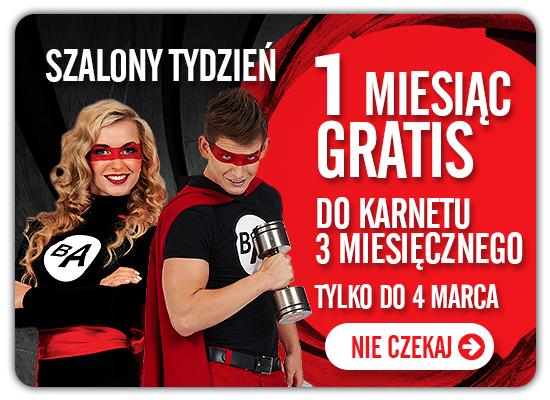 Karnet na siłownię/basen dla studentów - 3+1 miesiąc gratis!! BeActive