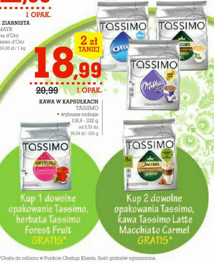 Kapsułki Tassimo z gratisem @ Intermarche