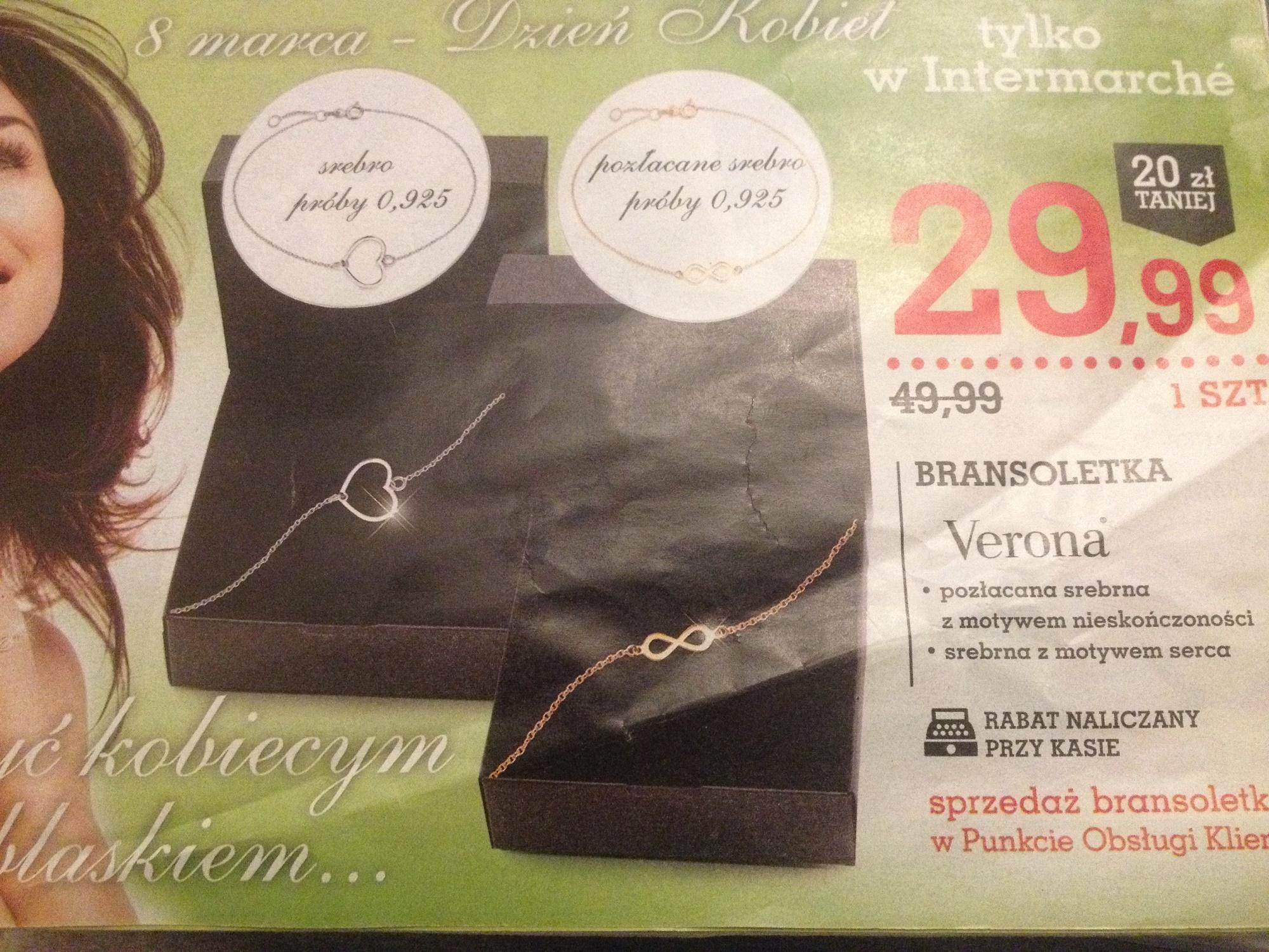 Srebrne bransoletki (próba 925) za 29,99zł @ Intermache
