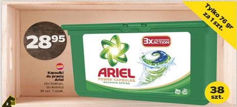 Kapsułki do prania Ariel 38szt. za 28.95zł @ Netto