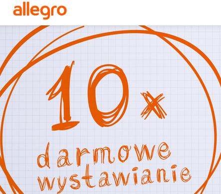10x Darmowe wystawianie do 31.03.2016