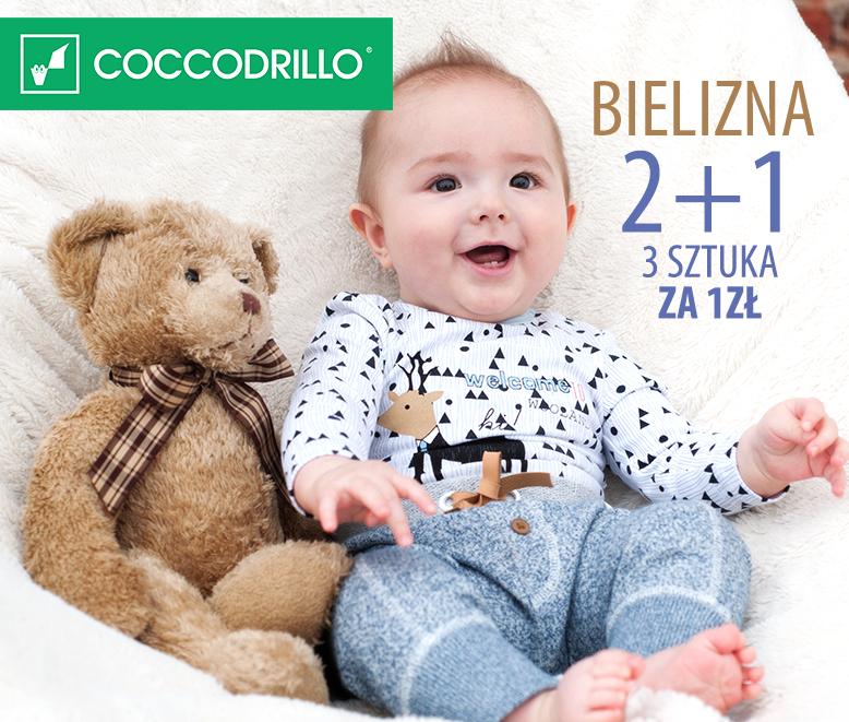 Bielizna niemowlęce - trzecia sztuka za 1zł @ Coccodrillo