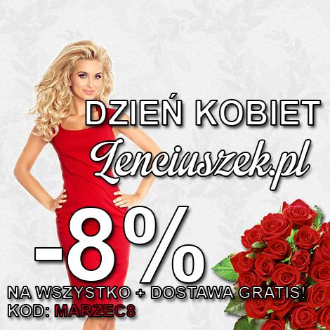 Dzień Kobiet -8% + Darmowa Dostawa