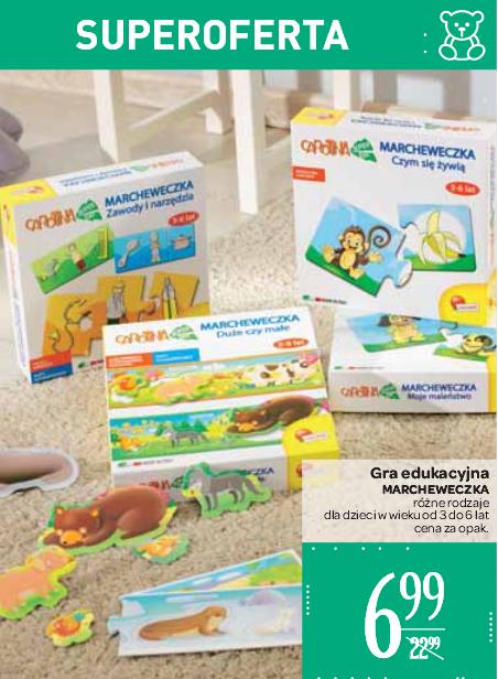 """Gry edukacyjne dla dzieci """"Marcheweczka"""" w przecenie z 22,99zł na 6,99zł @ Carrefour"""