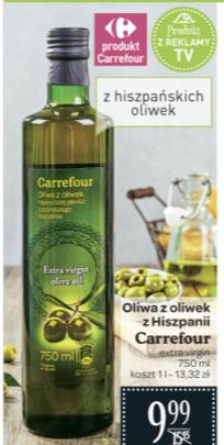 Oliwa z oliwek 750ml za 9,99zł @ Carrefour