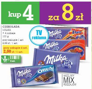 królowa czekolad Milka za  2zł @ Intermarche