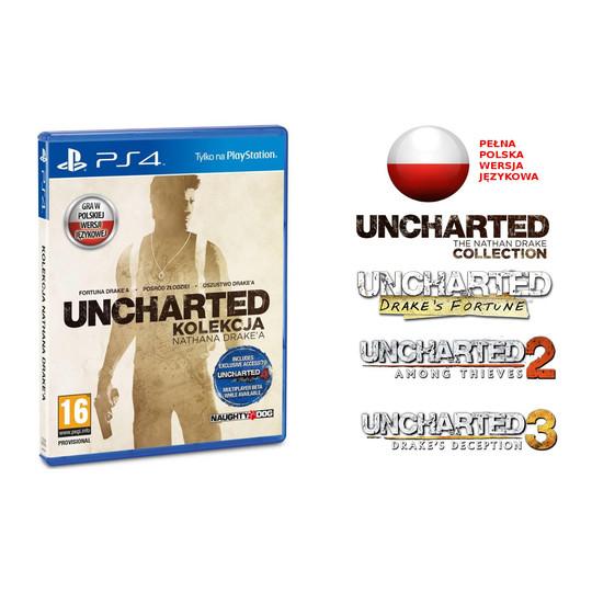 UNCHARTED: Kolekcja Nathana Drake'a [Playstation 4] za 139zł @ naLepsze.pl