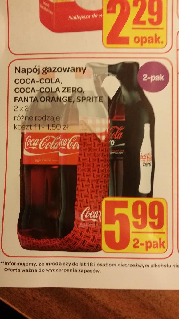 2 x 2L Coca-Coli za 5,99