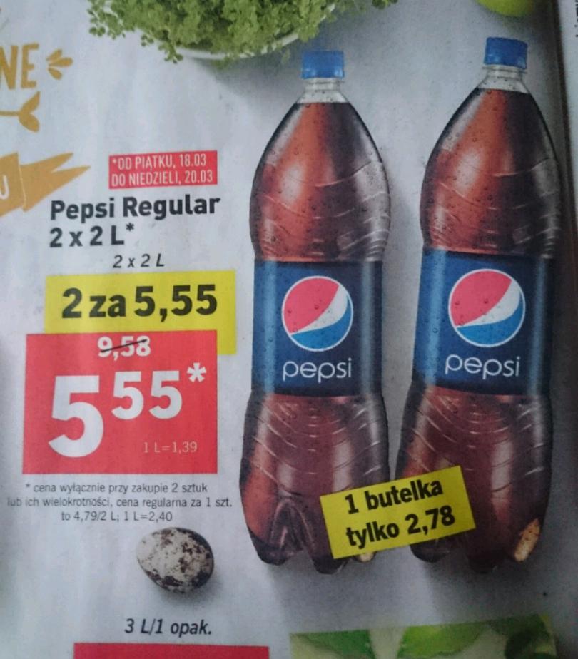 Pepsi 2x2L za 5,55zł @ Lidl