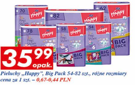 Pieluszki Bella Happy Big Pack za 35,99zł @ Auchan