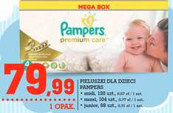 Pieluszki Pampers Premium Care Mega Box za 79,99zł @ Intermarche
