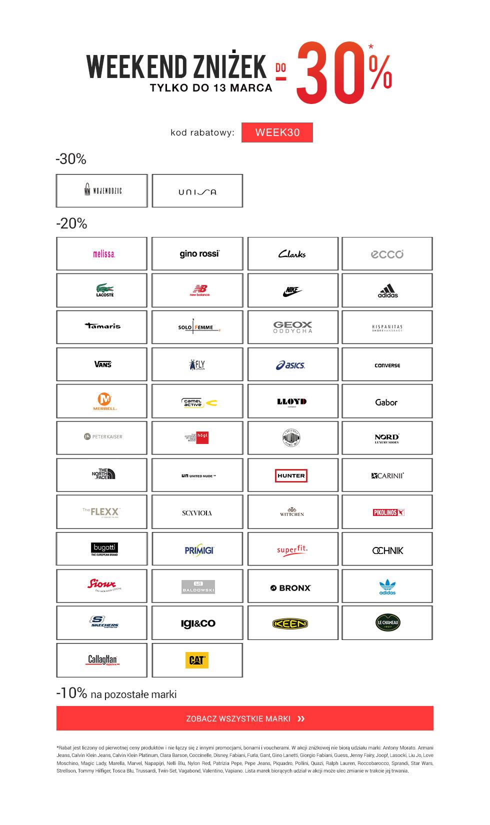 do -30% na wybrane marki obuwia - eobuwie.pl