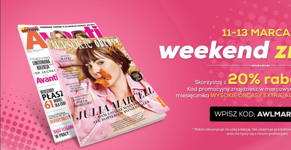 Weekend zniżek 11.03-13.03 (duuuużo sklepów)