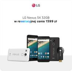 LG Nexus 5X 32GB z Google Chromecast