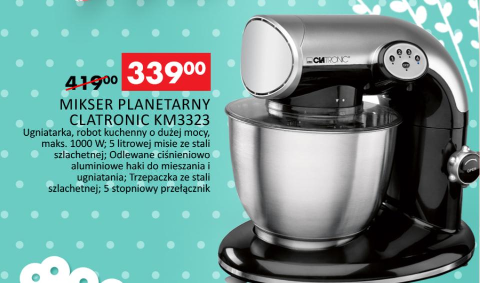 Robot planetarny Clatronic (KM3323) o mocy 1000W za 339zł (najtaniej) @ Auchan