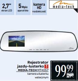 Wideorejestrator w lusterku wstecznym Media-Tech MT4057 za 99,99zł @ Carrefour
