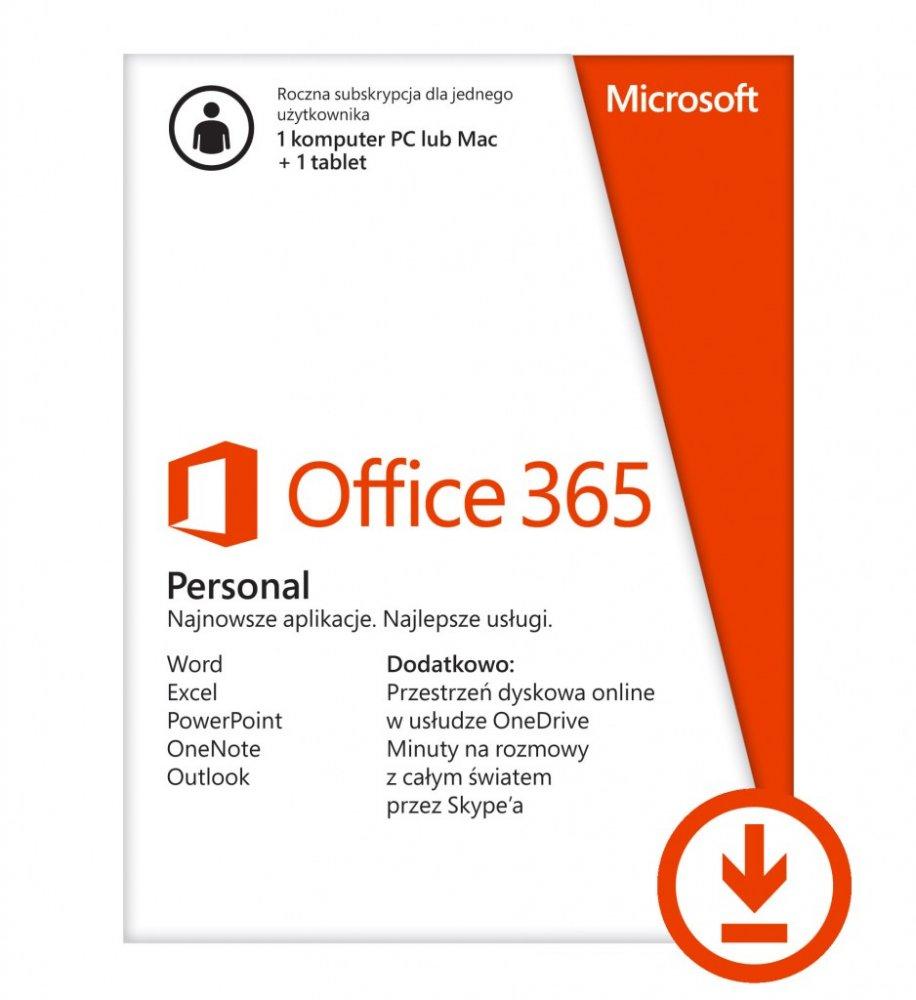 Office 365 Personal + 1TB Onedrive + 60 minut Skype - rok za 0zł