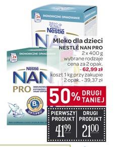 Mleko Nestle NAN Pro 2x800g za 62,99zł @ Carrefour