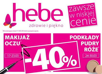 40% zniżki na kosmetyki do makijażu @ Hebe