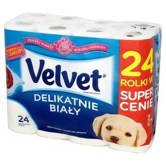 Papier toaletowy delikatnie biały Velvet, 24 rolki