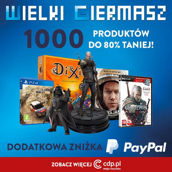 Giermasz CD Projekt z rabatami do -80% (+ dodatkowy rabat do 10zł za płatność PayPalem) @ CDP
