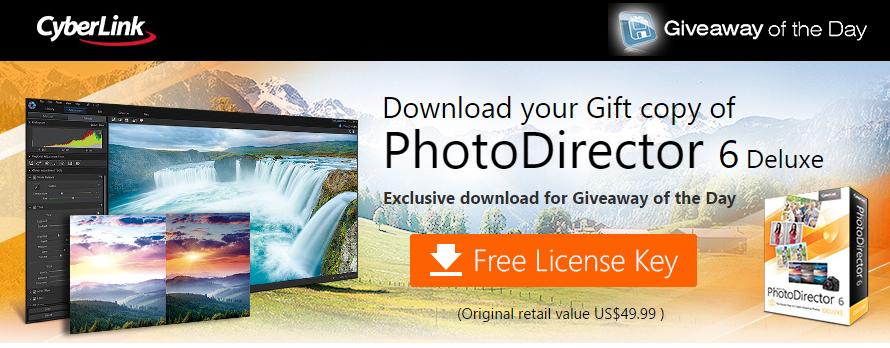PhotoDirector 6 Deluxe za darmo