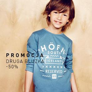 Druga bluza dziecięca 50% taniej @ Reserved