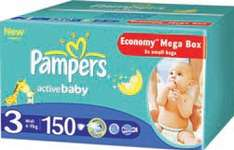 Pieluchy Pampers Active Baby Dry Mega Box 79,99 zł @ Carrefour