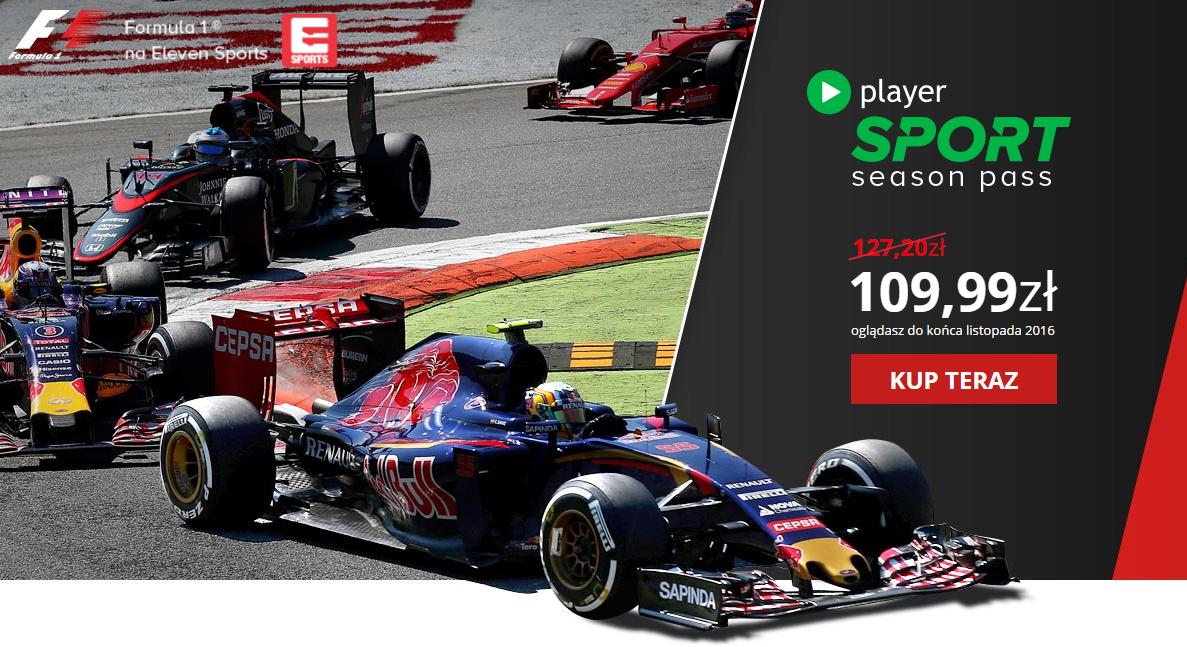 Oglądaj cały sezon Grand Prix F1 (z treningami i kwalifikacjami) online lub mobilnie @ Player