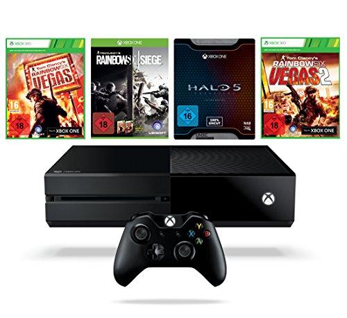 (Tylko do 22:30) Xbox One 1TB + Halo 5 + Rainbow Six Siege/Vegas/Vegas 2 za 1360zł @ Amazon.de