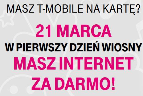 DARMOWY internet od t-mobile z okazji pierwszego dnia wiosny, tylko dziś
