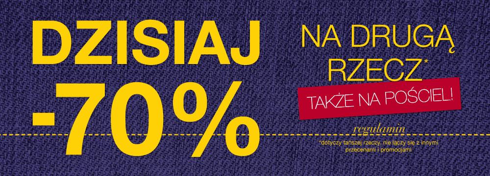 70% rabatu na drugą rzecz tylko do JUTRA!! @ Home&You