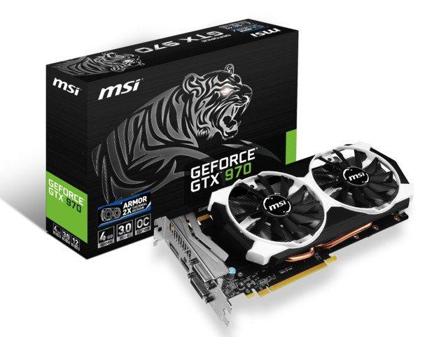 Karta graficzna MSI GeForce GTX 970 OC 4GB GDDR5 (256 Bit) 100zł taniej @ Morele