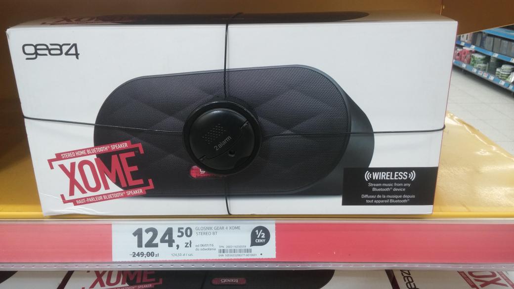 Głośnik GEAR4 XOME stereo Bluetooth (Kielce) @ Tesco